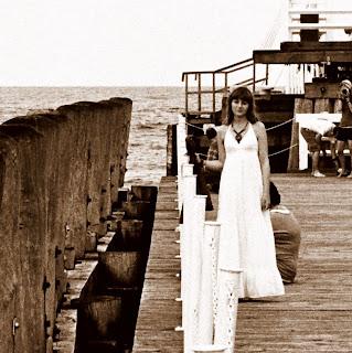 biała długa sukienka maxi dress etno boho