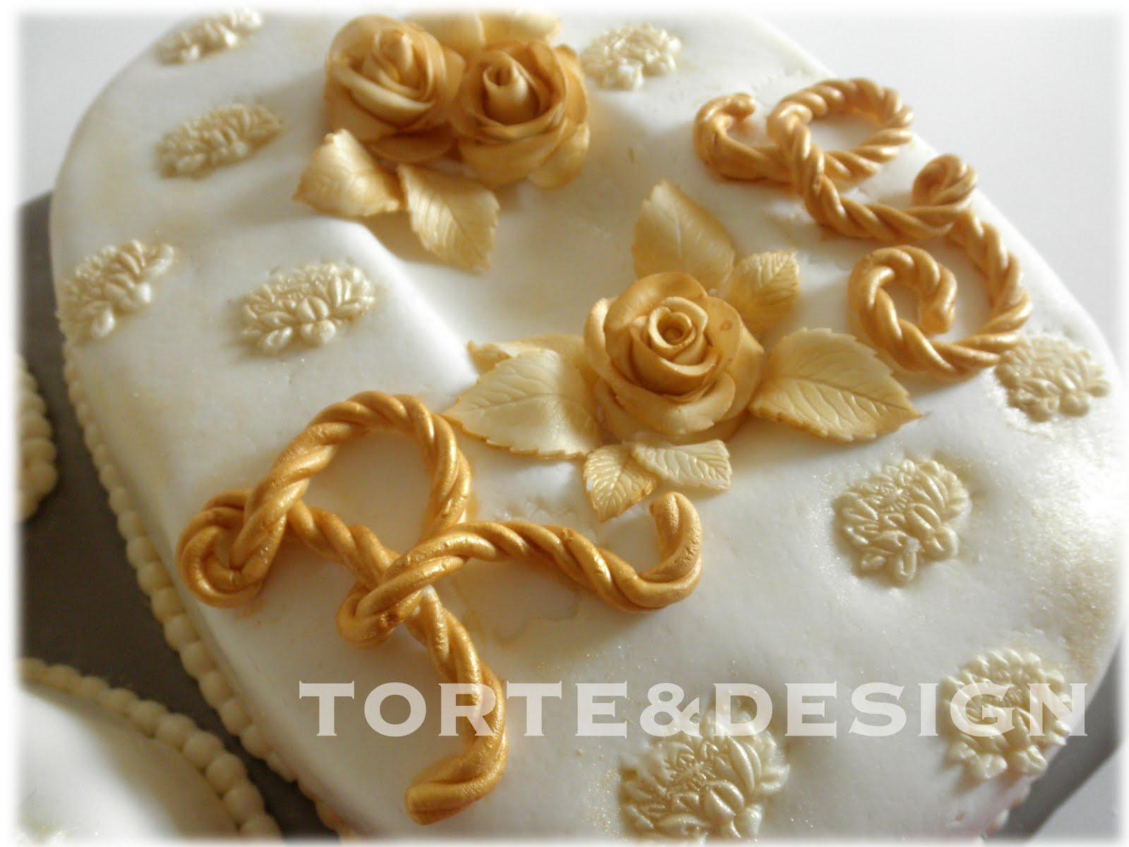 Torte design nozze d 39 oro for Decorazioni 50 anni di matrimonio