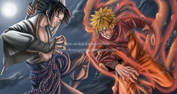 naruto vs sasuke demon