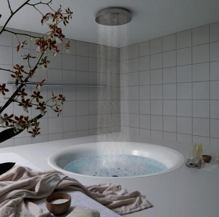 Bathroom Plans on Bathroom Design With Bathtub And Rain Shower