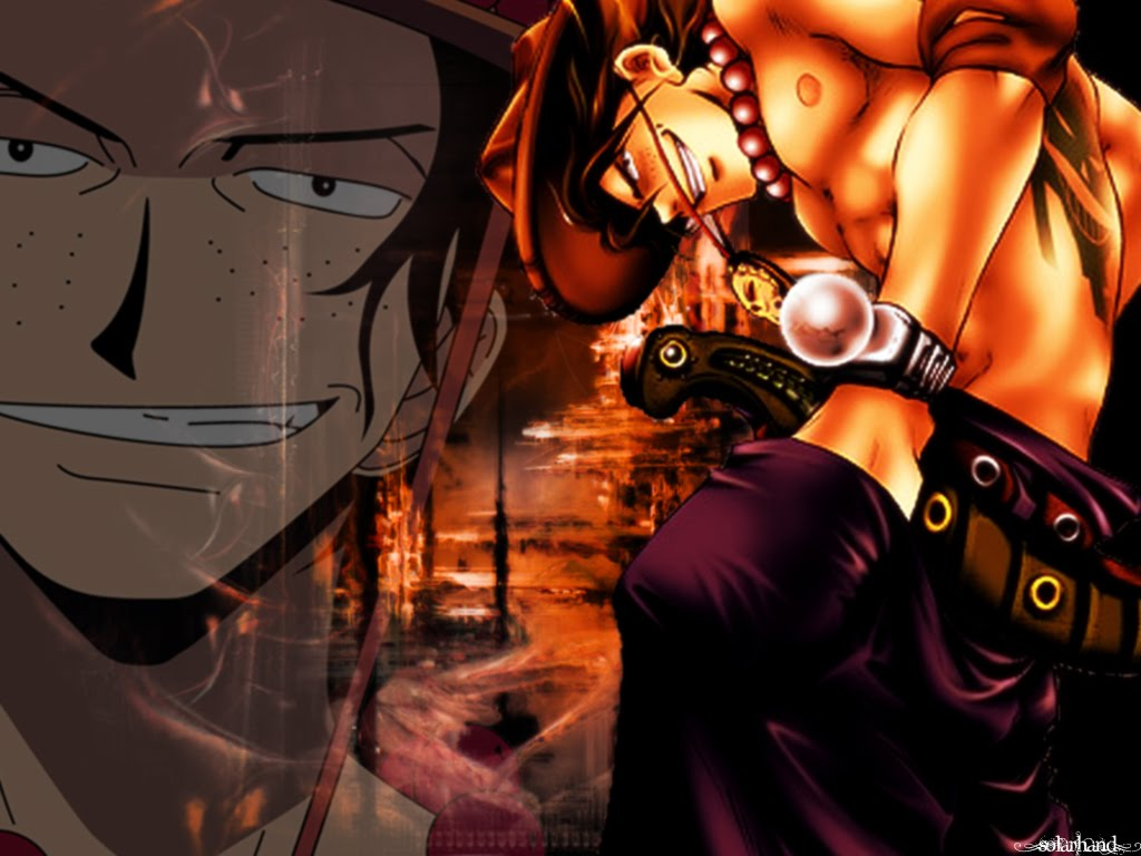 portgas d ace wallpaper one piece death anime 3d