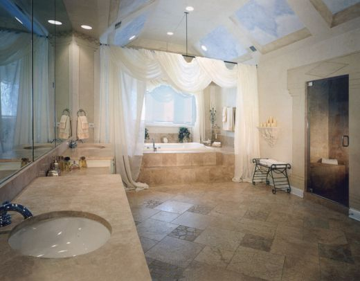 Luxury bathroom design home design for Large master bathroom