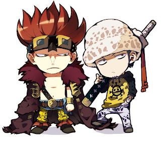 trafalgar law and eustass kid cute picture anime wallpaper one piece