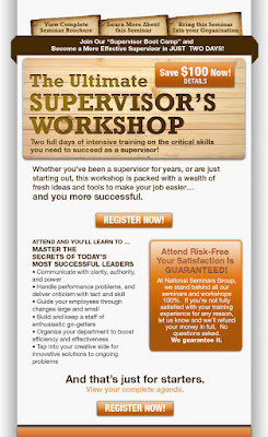 Supervisors workshop email invitation loopdloop designs client national seminars training business orientation training providernorth america service email template design stopboris Images