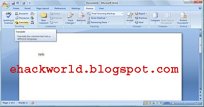 translate language in word document