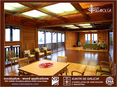 Eucalyptus globulus timber uses catalogue: wood flooring, windows, wall panels, structural elements and furniture made in Galicia (Spain) / Catálogo de Parquet, ventanas, paneles, vigas y elementos estructurales y muebles fabricados con madera de Eucalipto Blanco (Eucalyptus globulus) en Galicia (España) / Gustavo Iglesias Trabado / GIT Forestry Consulting - Consultoría y Servicios de Ingeniería Agroforestal, Lugo, Galicia, España, Spain / Eucalyptologics - Information Resources on Eucalyptus Cultivation Around the World