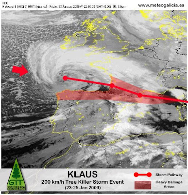 Storm Klaus damages the largest Eucalyptus Forest in Europe at Galicia, Spain / La tormenta Klaus arrasa el bosque de eucalipto más grande de Europa en Galicia, España / GIT Forestry Consulting, Consultoría y Servicios de Ingeniería Agroforestal, Galicia, España, Spain / Eucalyptologics, information resources on Eucalyptus cultivation around the world / Eucalyptologics, recursos de informacion sobre el cultivo del eucalipto en el mundo