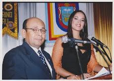Con Miss Perú Marina Mora (2006)