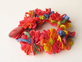 handmade rainbow daisy chain bracelet by ffflowers