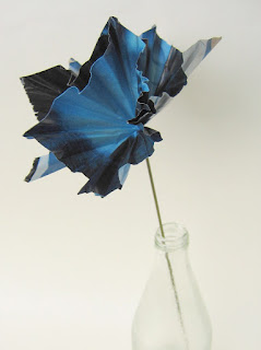 finished recycled paper flower