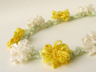 handmade daisy chain crown by ffflowers