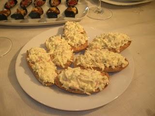 El blog de sandra canapes de huevo y palitos de cangrejo for Canape de cangrejo