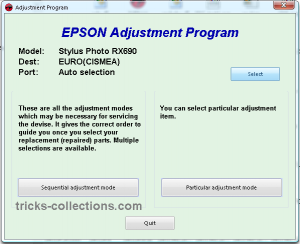 Reset Counter Epson RX690 with Adjustment RX690