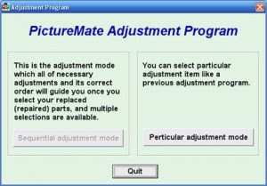 PictureMate Adjustment Program