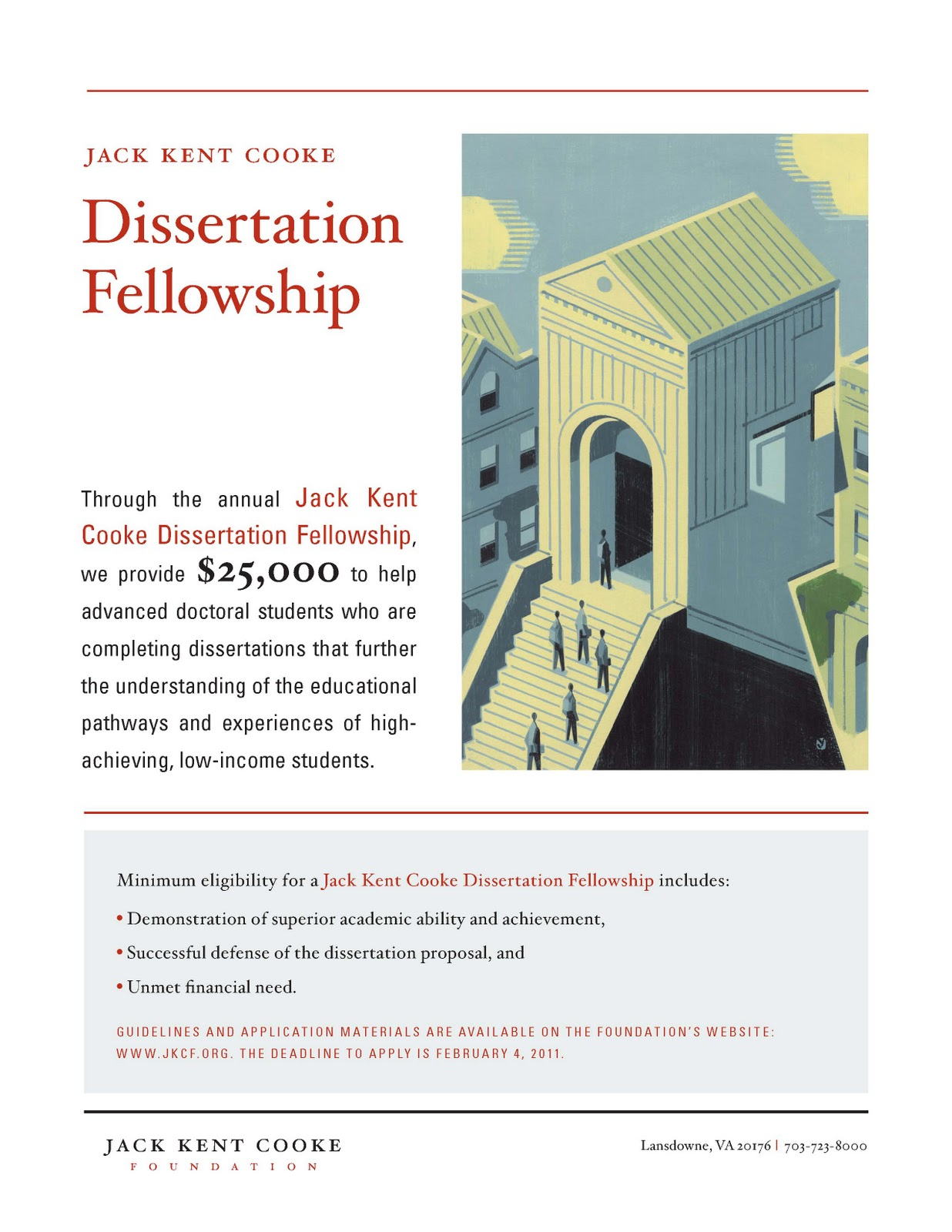 Jack kent cooke dissertation fellowship
