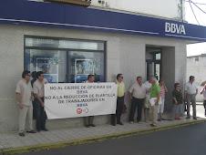 UGT BBVA ANDALUCIA EN PEÑARROYA NO AL CIERRE DE OFICINAS