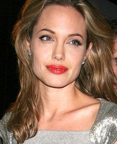 Angelina Jolie with make-up picture