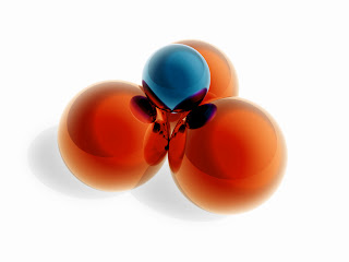 3D Orange Balls wallpaper-1024x768