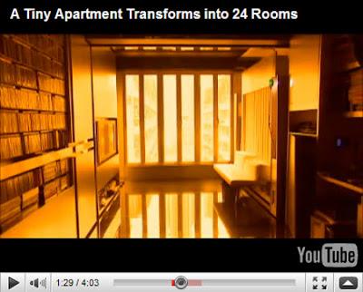 Un pequeño departamento que se transforma en 24 espacios diferentes!