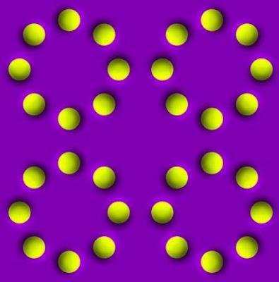 La ilusión óptica de los cuatro círculos que se mueven