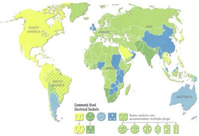 Todos los tipos de enchufe que se usan en el mundo