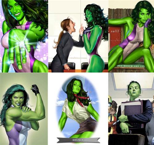 Hulka - She Hulk - Mujer Verde