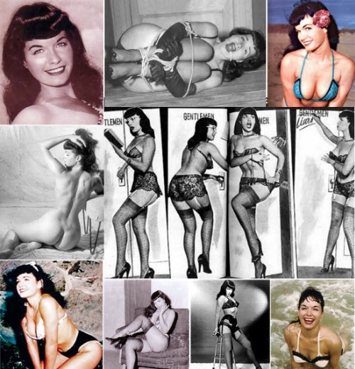 Collage Betty Page