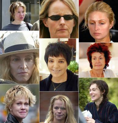 Enorme galeria de celebridades sin maquillaje