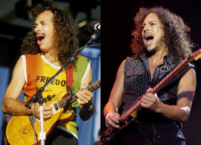 Carlos Santana y Kirk Hammet de Metallica