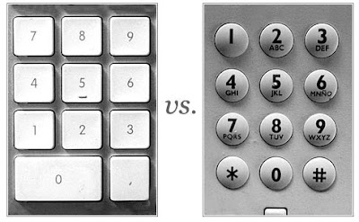¿Por qué las teclas de los números en teléfonos y calculadoras están al revés?