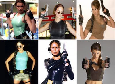 Algunas modelos de Tomb Raider