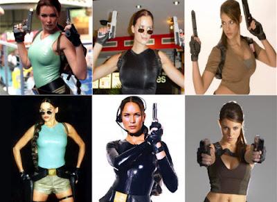 Algunas modelos de Tomb Raider
