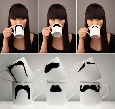 The Moustache Mug: Tazas con bigote