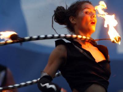 Fiesta del fuego en Kiev