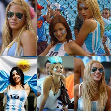 Las argentinas más lindas del mundial