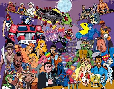 Cuantos personajes de los 80's podés encontrar en esta imagen???