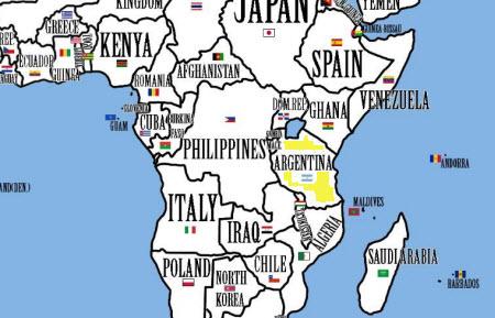 Reorganizando los países según su población