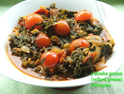 easy recipe ethiopian collard greens y'abesha gomen ye abesha gomen injera
