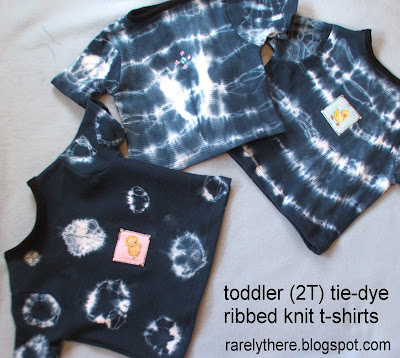 easy sewing tie dye ribbed knit t-shirt tee