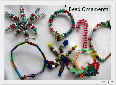 kids craft beaded ornaments
