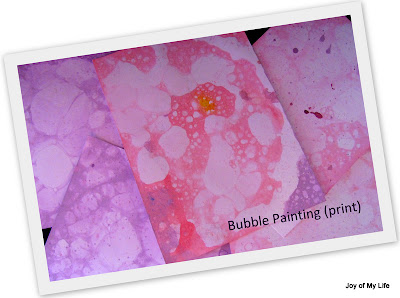 easy kids art soap bubble painting