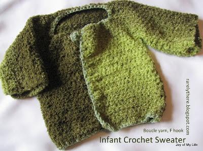 crochet infant sweater