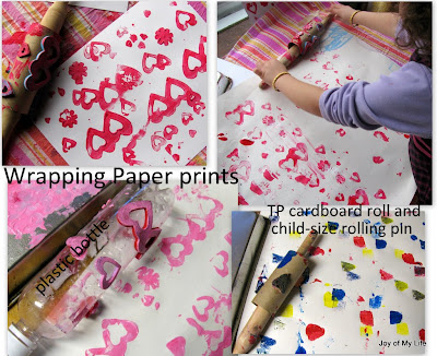 roll printing kids crafts