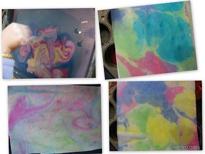 kids art paper marbling