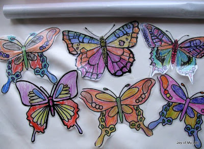 kids craft butterflies mobile hanging yard decoration