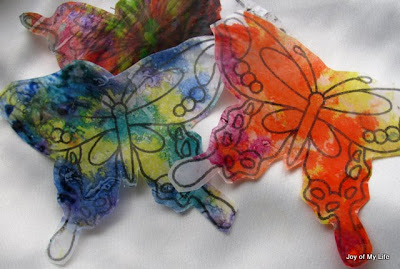 kids craft butterflies mobile hanging yard decoration melted crayon stained glass