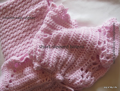 Crochet Baby Bolero short-sleeved jacket and Afghan