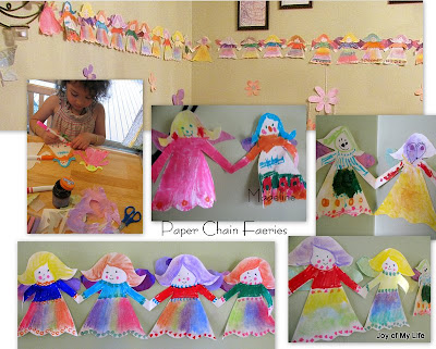 Easy Kids Crafts, easy kids craft fairy wings, Paper Chain Faeries, Flowers, Butterflies