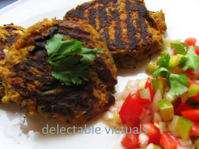 kabocha squash zucchini eggplant hash with salsa fresca