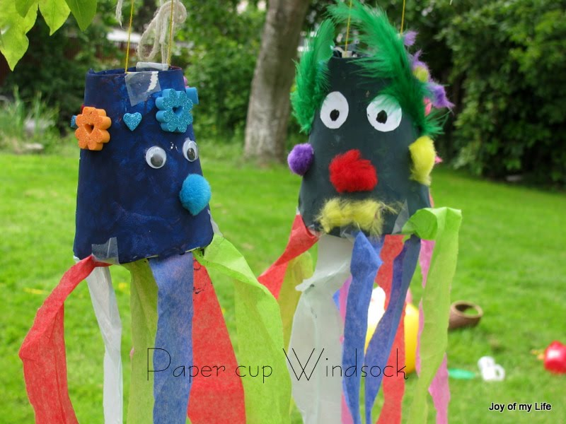 The Joy Of My Life And Other Things Kids Craft Paper Cup Windsock